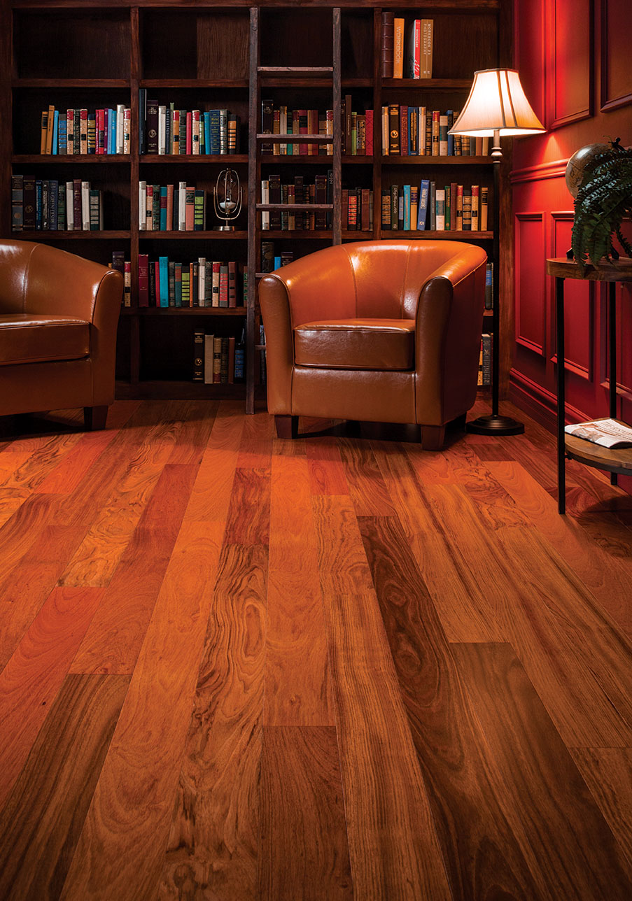 Wood Flooring - Brazilian Cherry Library 2015 - Eden Prairie, MN