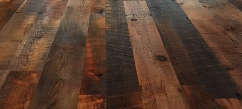 Wood Flooring - Reclaimed Pine finished with Bona Traffic Matte Posel Construction, New Richmond, WI - cropped - Eden Prairie, MN