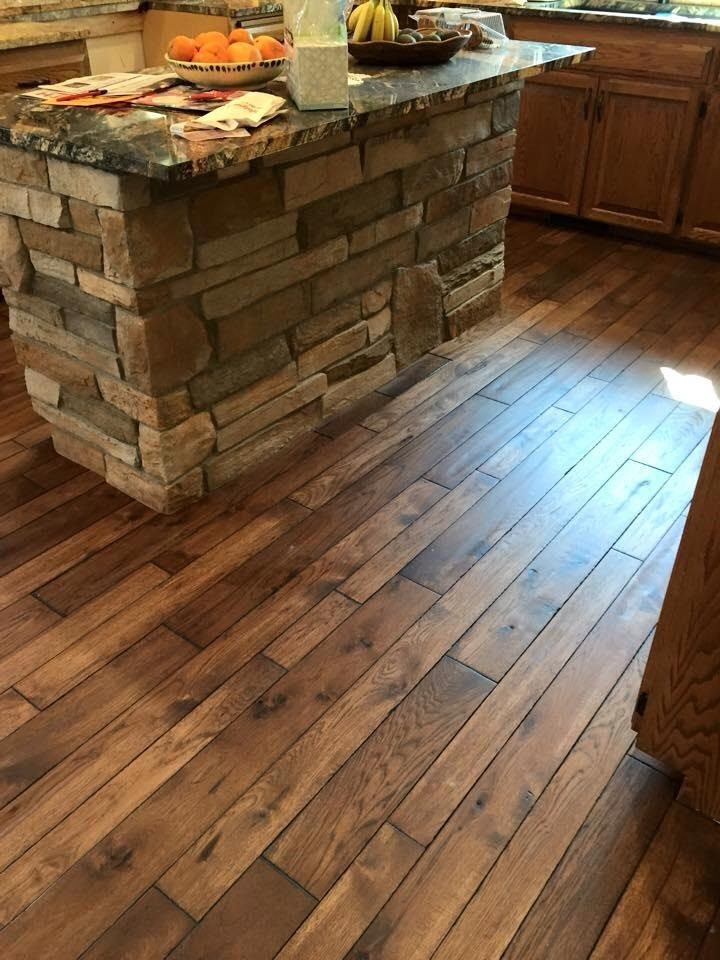 Wood Flooring Hickory Common Grade French Bleed Custom Color
