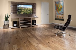 Hickory Burnished Leather Handscraped Entertainment Room 2015 - 2